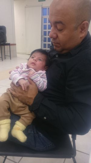 Pretty Girl Baby Family With One Child Father Parent Love Care Embracing Newborn My Daughter ♥ My Little Girl❤️❤️❤️ My New Baby♥ My Fadhila Happiness Mid Adult Men
