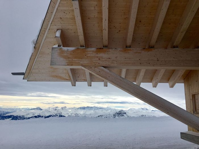 Schnee Snow Mountain Switzerland Schweiz Bergbahn Toggenburg Chäserrugg Herzog & De Meuron Architecture Built Structure Water Sky No People Nature #FREIHEITBERLIN Cold Temperature Building Exterior Outdoors