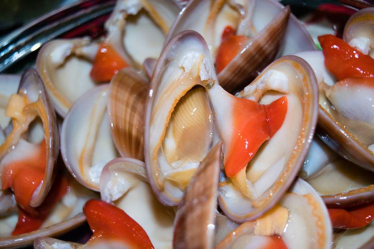 Tasty dish of fresh cockles Appetizer Cockles Fasolari, Fish Live Mollusc Ocean Sea Seafood Shellfish🐚 Tasty