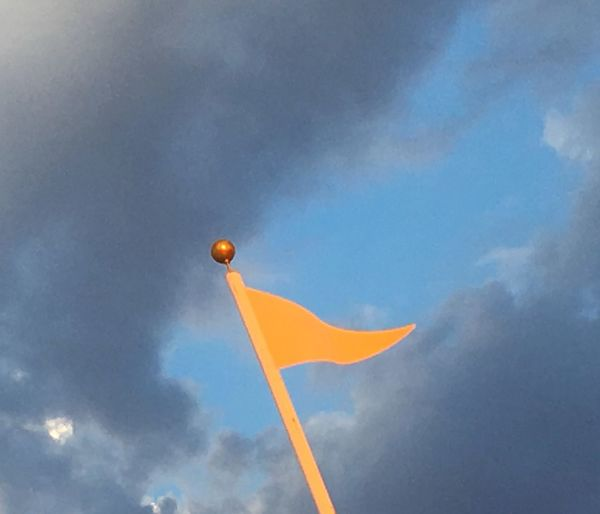 yellow flag Dark Clouds Flag Yellow Flag Blue Sky Clouds Clouds And Sky Arizona Pennant Yellow Pennant Flying Yellow Sky Flag Pole