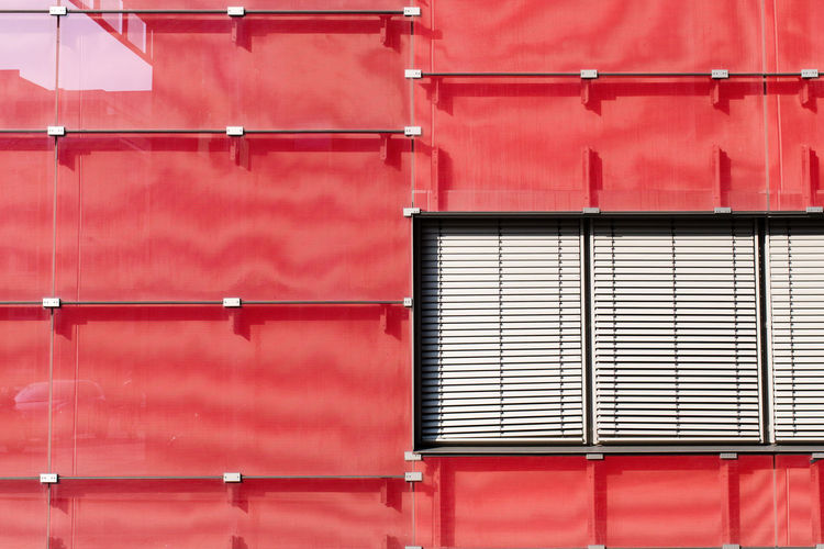 Full Frame Shot Of Red Cargo Container