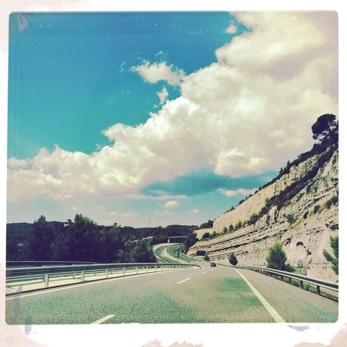 Driving with Pastel Power ... 🚶🏻🚘 Hello World Taking Photos Hipstamatic IPhoneography Der Reisende Snapshots Of Life From My Point Of View Tadaa Community Cloudporn Landscape Taking Photos Clouds And Sky Driving
