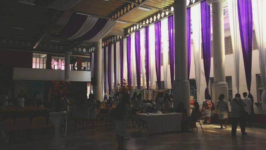 White and Purple Colegelife College Centro Escolar University