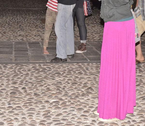 The long fuchsia skirt and... legs mess Human Leg Legs Mess Lifestyles People Skirt Women