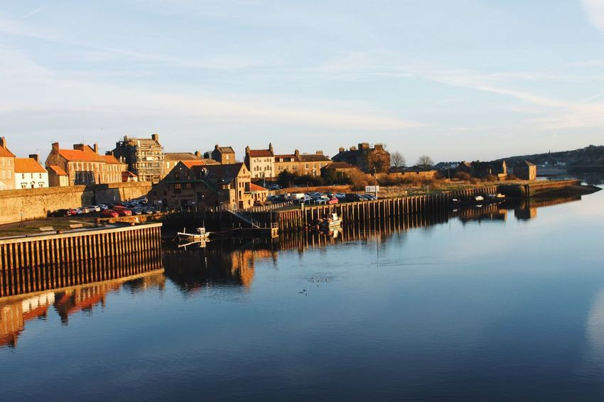 Berwick Upon Tweed. EyeEm Best Shots EyeEm Best Edits Reflection Water Built Structure Building Exterior Architecture Waterfront River Sky Outdoors City Nature No People Scenics Beauty In Nature Day Cityscape