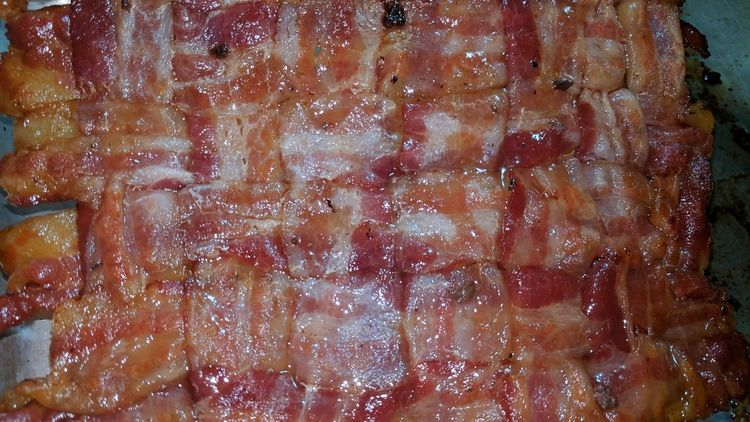 It Is A Bacon Blanket😁 Full Frame Backgrounds Textured  Close-up Bacon! Basket Weave Bacon Weave Food Foodgasm Food Art Bacon Lover Create Your Food Play With Your Food