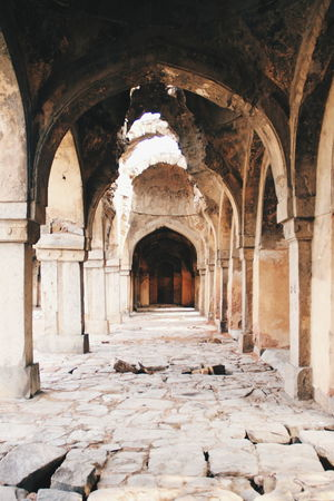 Ancient Arch Architectural Column Architecture Built Structure Column Corridor Day Delhi Diminishing Perspective Empty Historic History June Showcase Mosque Old Ruins The Past The Way Forward Vanishing Point