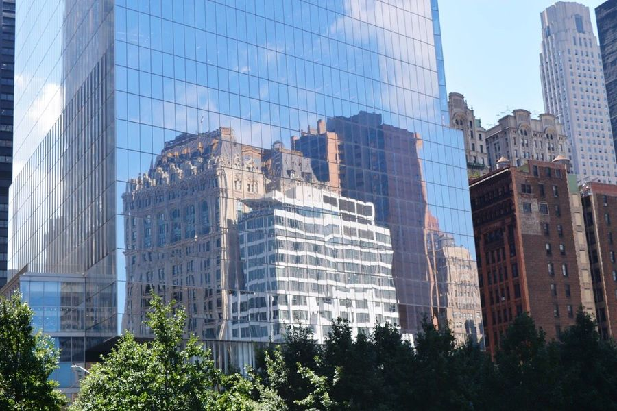 Reflection Building Reflection_collection Taking Photos From My Point Of View NYC City Life Mirror Highrise Looking Up Eyeemphoto