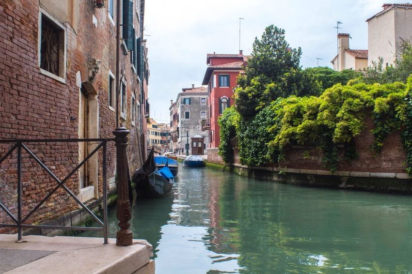 Architecture Built Structure Building Exterior Canal Water Nautical Vessel Mode Of Transport City Waterfront Growth Sky Day Outdoors Cloud - Sky Diminishing Perspective No People Venice Venezia Venice, Italy