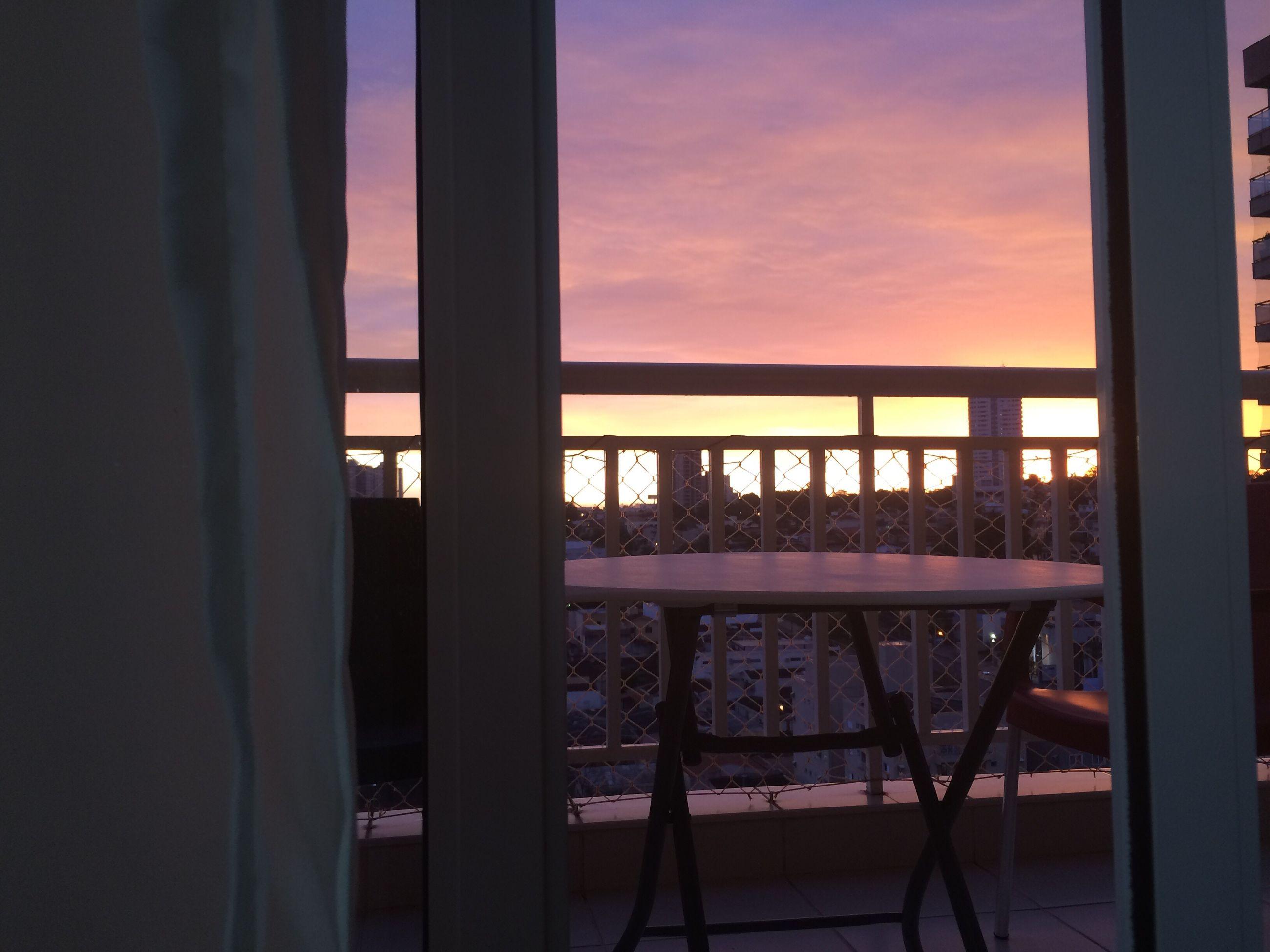 window, indoors, sunset, home interior, transparent, sky, glass - material, cloud, balcony, dark, cloud - sky, no people, window frame