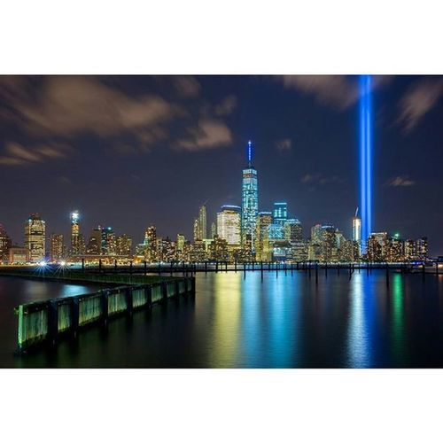 Tribute in Lights 2015 Tributelights Tributeinlights 911 September11th WorldTradeCenter Oneworldtradecenter Oneworldtrade Nycicons Ig_nycity Nyclandmarks Nycphotographer Longexposure Nycnight Newyorkcity NYC Nycskyline  Nycbuildings Lowermanhattan Downtown Memorial Newjersey Newport Newportnj Lightsinthedark NeverForget matthewpugliese matthewpugliesephotography