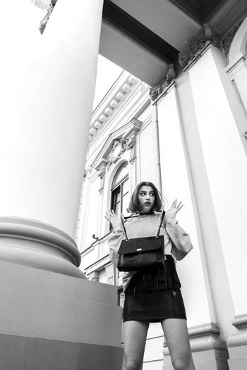 a girl at theatre Girl Photography Beauty Fashion Art Pose Blackandwhite Model Attitude Minimalism Minimalist Architecture Bw Outfit Unique Portrait Love Fashion Photography Young Women Architecture Go Higher Stories From The City Inner Power EyeEmNewHere Visual Creativity
