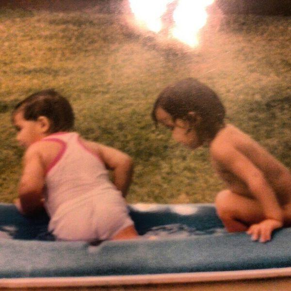 Me&my litto big cousin! Two peas in a pod! Waianae Cuzzin Hanabada Dayz AMBERKEAULANAhertoleftmebuttnakedtotheright