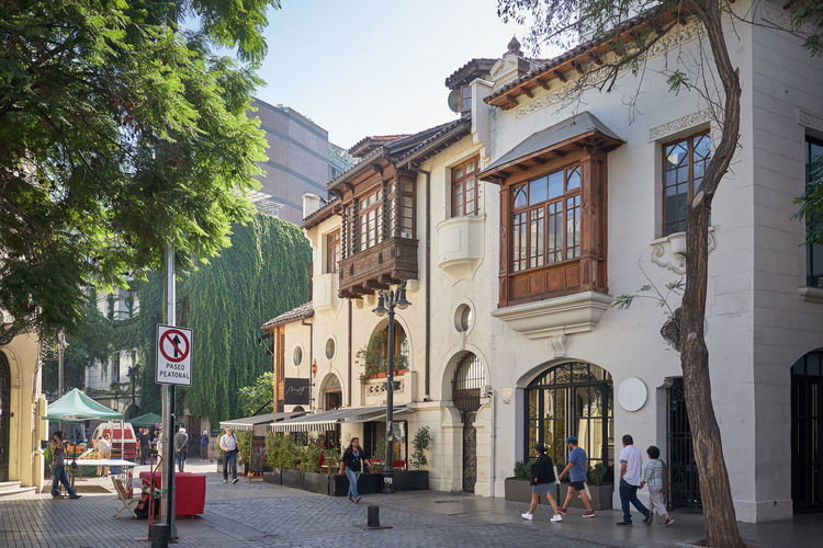 Lastarria neighborhood... Architecture Building Exterior Built Structure Building City Group Of People Street Men Women Transportation Real People Day Adult Walking People Tree Arch Nature Direction Plant Outdoors Tourism History City Streetphotography