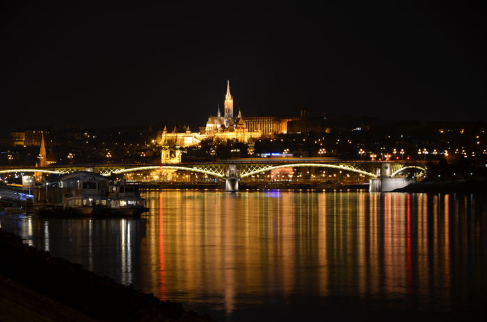 Boat Bride Budapest Castle Capital Cities  Cityscapes Danube Danube River Famous Place Margit Hid Night Pier River Riverside Water Waterfront