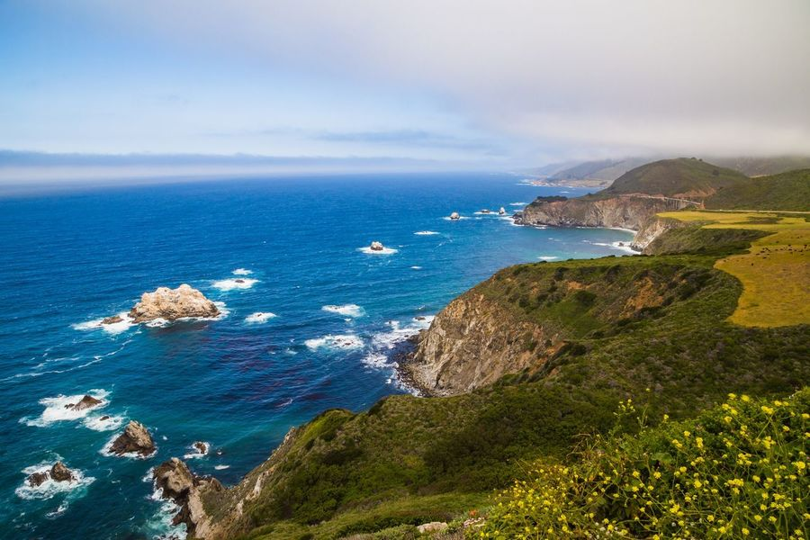 """The Big Sur Adventure Series - The Promised Land: Hurricane Point """"Big Sur is the California that men dreamed of years ago, this is the Pacific that Balboa looked at from the Peak of Darien, this is the face of the earth as the Creator intended it to look."""" Sea Scenics Nature Horizon Over Water Sky Beauty In Nature Outdoors Water No People Day Discovering Idyllic Adventure Big Sur Clouds And Sky Scenic Lookout Landscape Tranquility Nature Cloud - Sky Beauty In Nature Green Color Beautiful Nature Landscape_Collection Landscape_photography The Great Outdoors - 2017 EyeEm Awards"""