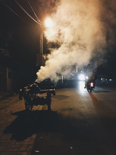EyeEmNewHere Smoke - Physical Structure Street Photography Taking Photos Photooftheday Vscocam Eye4photography  Streetdreamsmag Pollution In My World The City Light HUAWEI Photo Award: After Dark