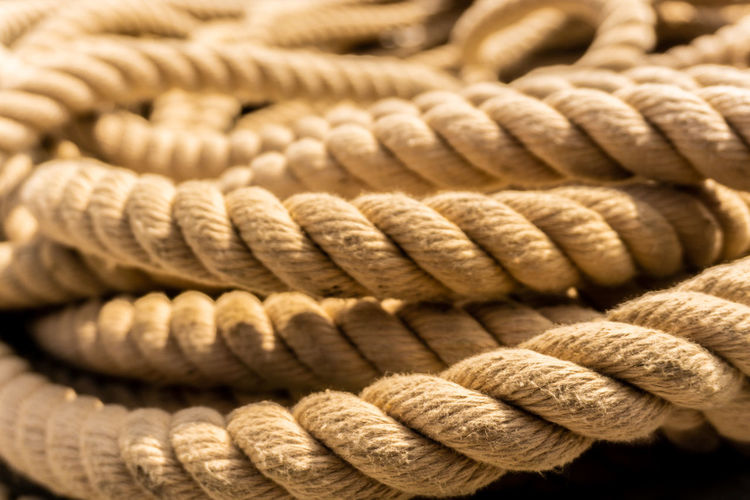 get the rope Cotton Rope Sailing Ship Seamanship Backgrounds Close-up Focus On Foreground No People Old Pattern Rolled Up Rope Seamen At Work Spiral Still Life Strength Structure Textured  Twisted EyeEmNewHere