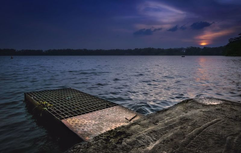 Last light at Bedok Lake. Check This Out Sunset Singapore Sea And Sky