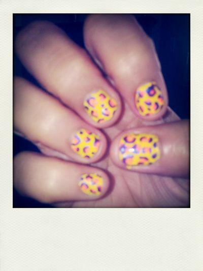 cheetah nails Hi! Hello World Cute