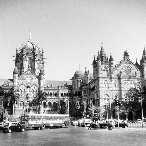 The main train station in Mumbai, a UNESCO world heritage and used by more than a million people daily