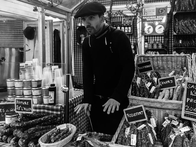 The Five Senses Fance Toulouse Meat Market IPhoneography Iphone6 Blackandwhite