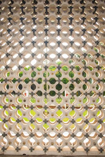 Full frame shot of illuminated patterned ceiling