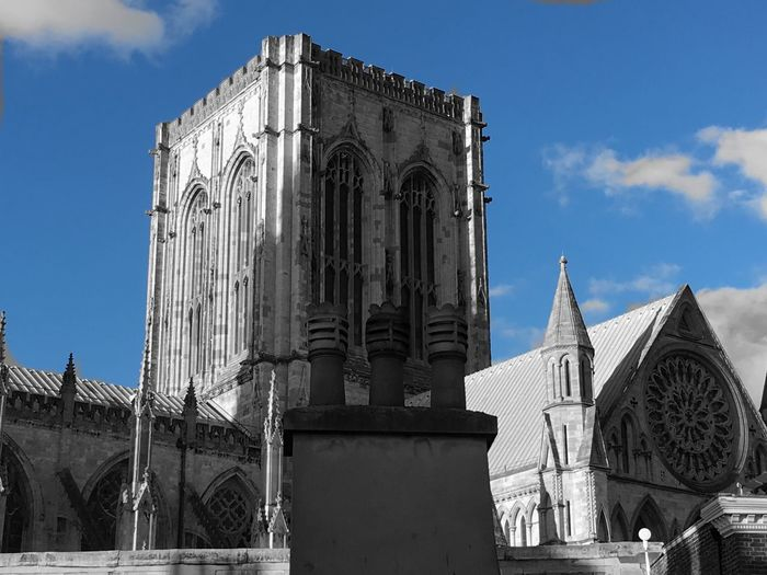 York Minster  Rose Window Rooftops Colour Splash Cathedral Tower Yorkshire