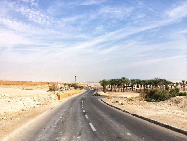Desert Road Transportation The Way Forward Direction Sky Diminishing Perspective Cloud - Sky Nature Plant Land Vehicle Road Marking Sign vanishing point EyeEmNewHere