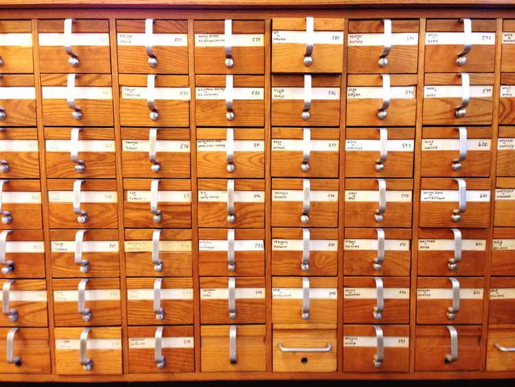 EyeEm Selects Full Frame Brown Wood - Material Indoors  No People Backgrounds Pattern Library Card Catalogue Knowledge Filing Filing Cabinet Analog Classic Antique