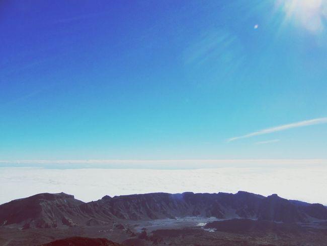 Hello World Del Teide auf Teneriffa Vulkan
