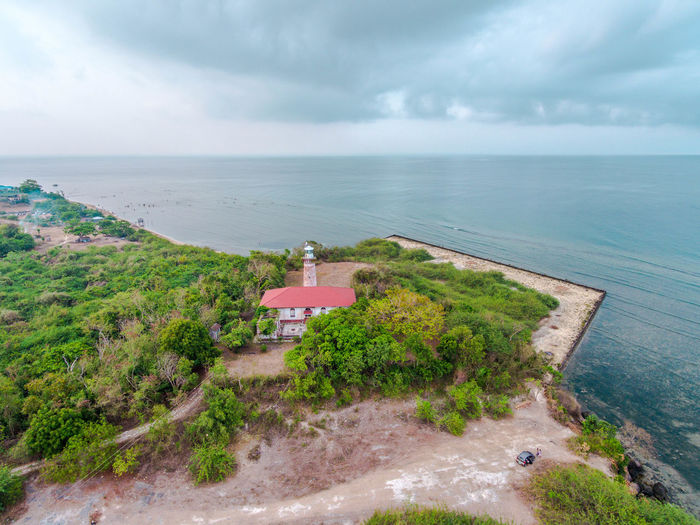 Architecture Beauty In Nature Building Exterior Built Structure Cloud - Sky Day EyeemPhilippines High Angle View Horizon Over Water Lighthouse Nature No People Outdoors Scenics Sea Sky Tranquility Water