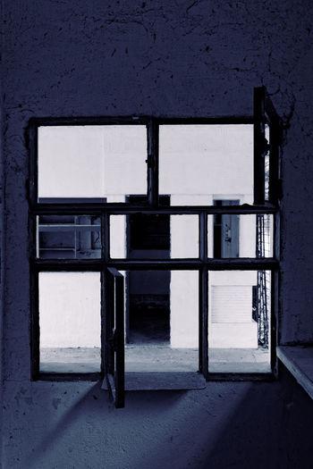Open door of old building