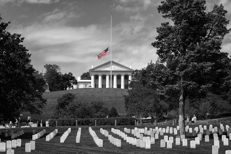 Arlington National Cemetery, USA. Arlington National Cemetary Cemetery National Park Peace Proud Travel USA Virginia Architecture Cemetery Day Flag Glory Graveyard Honor Memorial Outdoors Patriotism Rip Stars And Stripes Tombstone Travel Destinations Tree Veterans War