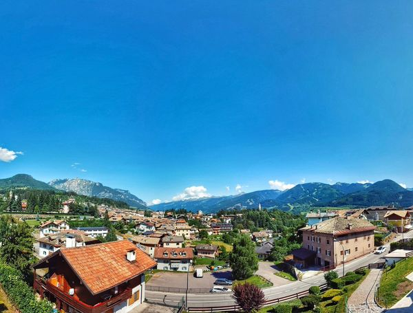 Building Exterior High Angle View Town Vacations Valley Architecture Mountain House Italian Landscape EyeEm Best Edits Hanging Out Taking Photos Check This Out Summertime My Favorite Place Clear Sky Tranquil Scene Sunlight Mountain Range Blue Beauty In Nature No People Enjoying Life Street Trentino