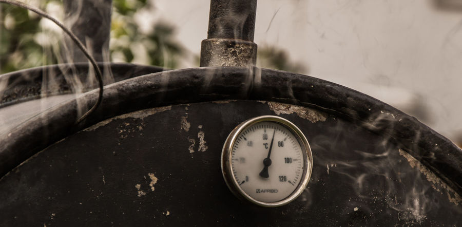 Burn Incense Circle Close-up Damaged Dirty Focus On Foreground Hot Man Made Object Messy No People Obsolete Old Old-fashioned Oven Single Object Smoke Smoker Temperature Thermometer