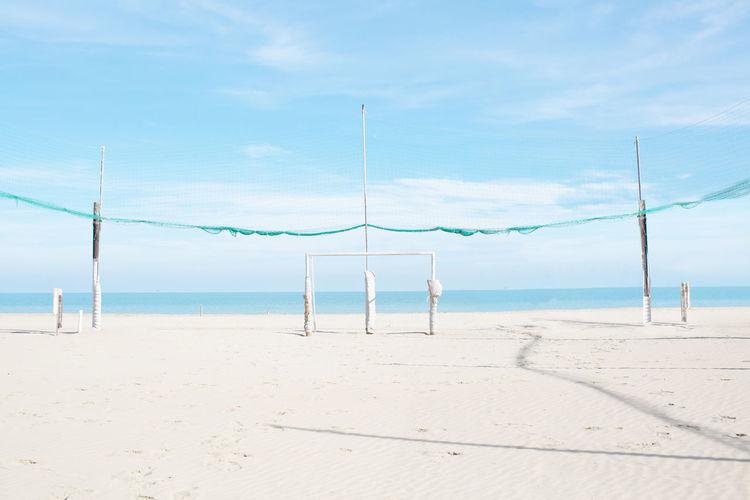 Beach Beauty In Nature Blue Blue Sky Fresh On Eyeem  Landscape Minimalism Sea Seascape Sky And Clouds White