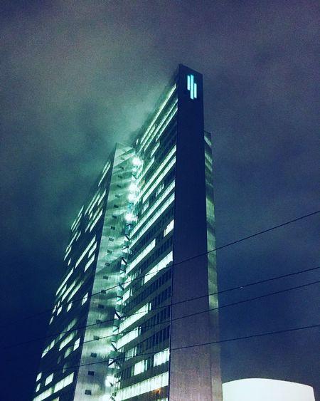 Dreischeibenhaus Düsseldorf Architecture Low Angle View Built Structure Building Exterior Skyscraper Sky Modern