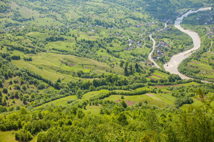 Scenic View Of River In Valley