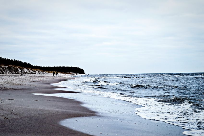Tranquil Scene Nature Water Outdoors Tranquility Sea Scenics Beach Horizon Over Water Day Sky Landscape Beauty In Nature Incidental People Baltic Sea Poland Misdroy-poland Międzyzdroje Cloudy Day Cloudy Sky Winter Lost In The Landscape