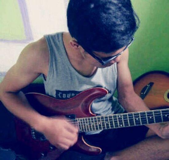 PlayingGuitar JustJokes That's Me Enjoying Life Acoustic Guitar Singasong