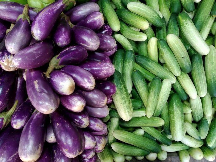 Full frame shot of vegetables at market stall