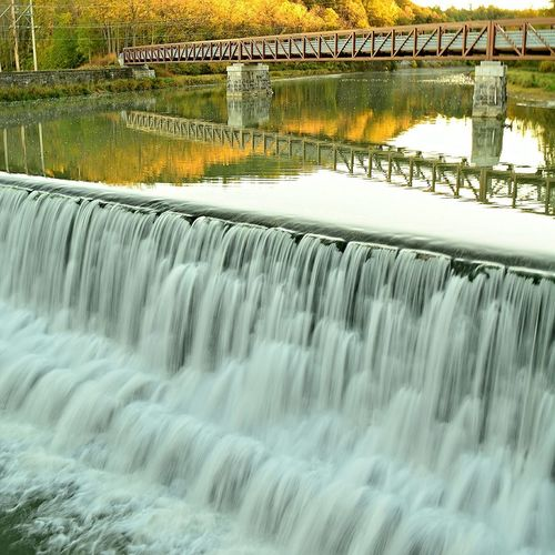 Letchworth - The Grand Canyon Of The East Water Reflections Waterfall Bridge Fall Colors Slow Shutter The Great Outdoors - 2015 EyeEm Awards