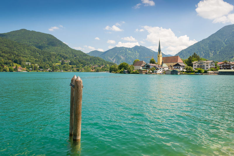 Tegernsee Summer Bavaria Church Holidays Nature Tegernsee Vacations Alps Europe Germany Idyllic Lake Landscape Miesbach Mountains Rottach Scenery Summer Wallberg