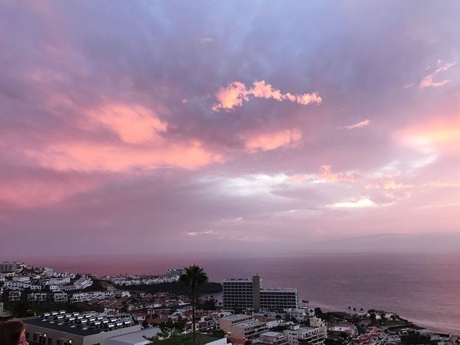 Pink sunset Architecture Sky Cloud - Sky Cityscape City No People Outdoors Town Beauty In Nature Nature Vacations Bright Colors
