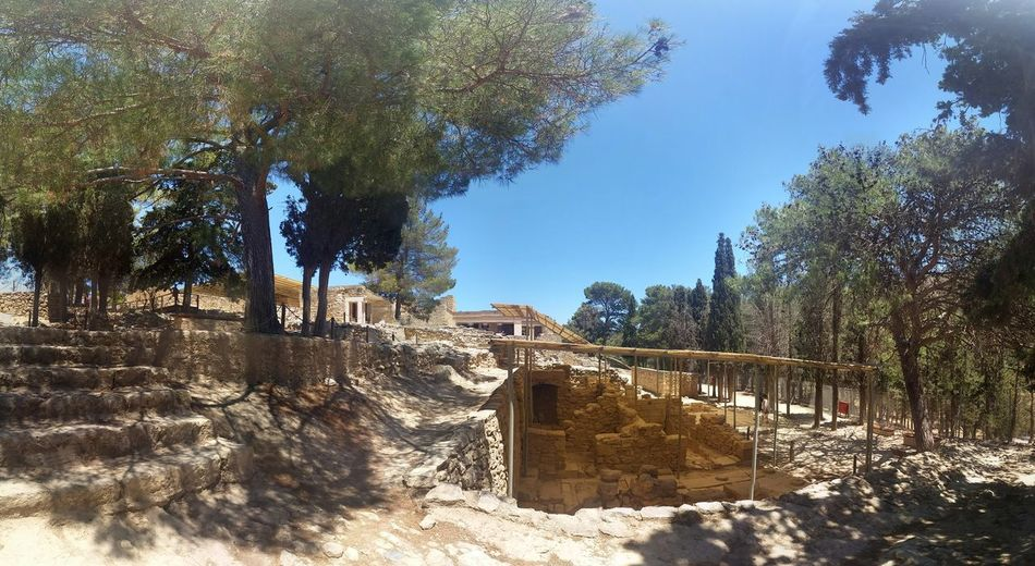 Knossos Knossos Palace Crete Greece Ruins Archaeological Sites Minoan Architecture