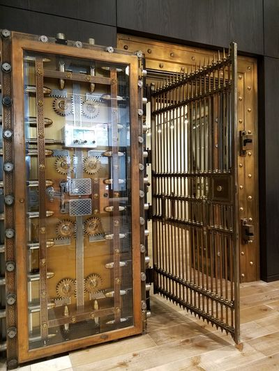 Old bank vault Door Indoors  No People Metal Grate Day Locks Vault Bank Vault The Week On EyeEm The Architect - 2018 EyeEm Awards
