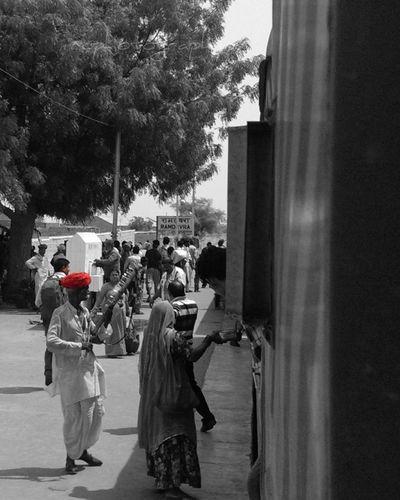 Rajasthan India Ramdevra Station Red Turban Train Journey Break The Mold