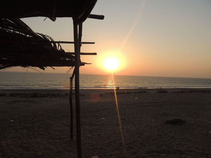 At Madhavpur Beach Beauty In Nature Horizon Over Water India Nature Outdoors Sand Sea Sunlight Sunset Water Without Edit ^^