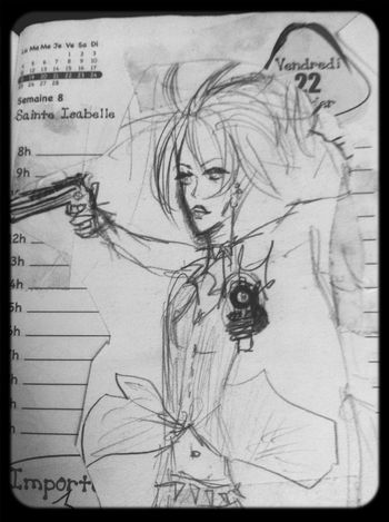 Draw Gun Drawing Action